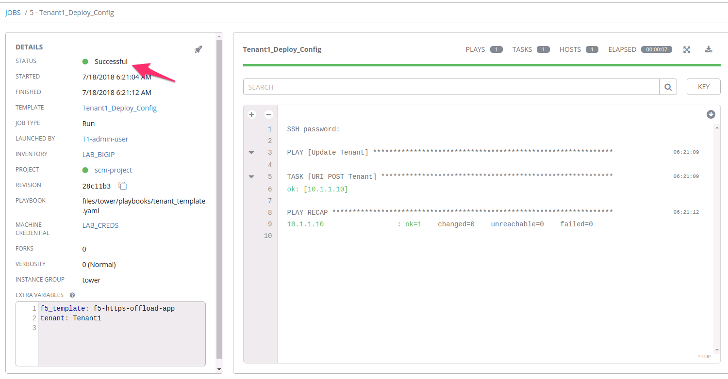 Lab 3 2: Deploying Templates with Tower