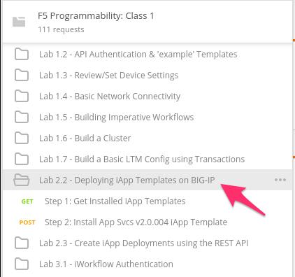 Lab 2 2: Deploying iApp Templates on BIG-IP — F5 Programmability